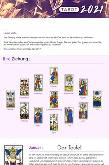 Das Tarot 2021 : Ihr Programm in 12 Karten!